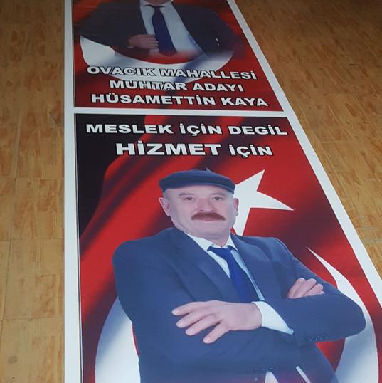 muhtar adayı, muhtar afişi, muhtar posteri