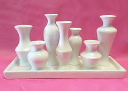 ceramic white multi vase3