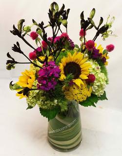 #5 Funky - sunflowers & kangaroos