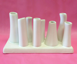 white ceramic multi vase