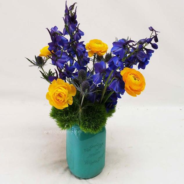 Wild flowers in Ball jar
