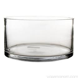 wide low cylinder vase
