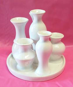 ceramic white multi vase2
