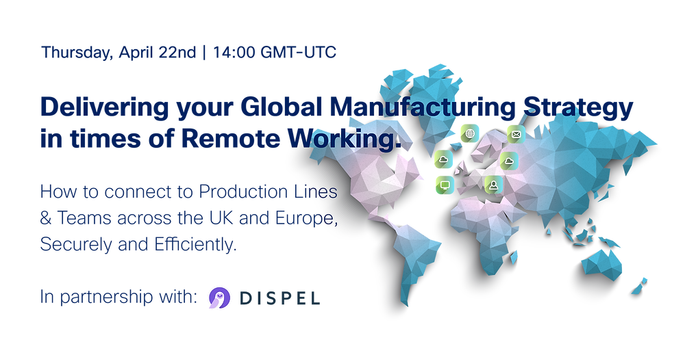 IoT and Industrial Connectivity in the UK & EMEA, World Map, Industrial Networks, Cybersecurity.