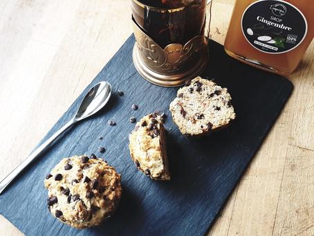 Muffins moelleux au sirop de gingembre L'empirique et aux pépites de chocolat noir
