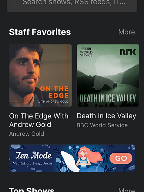 Castbox Staff Favourites On the Edge with Andrew Gold