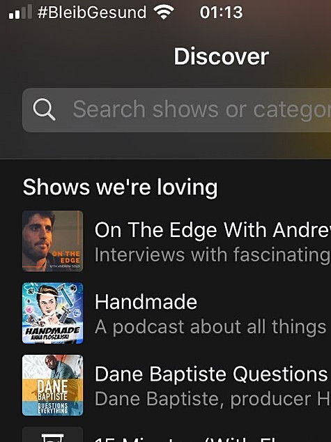 Acast Shows We're Loving - On the Edge with Andrew Gold