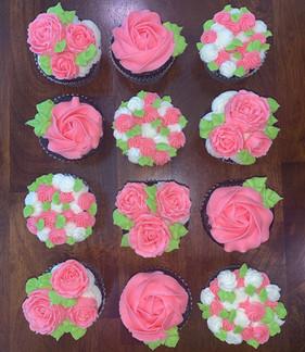floral cupcakes pink.JPG
