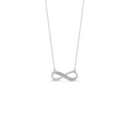 White Gold Diamond Infinity Pendant with Chain
