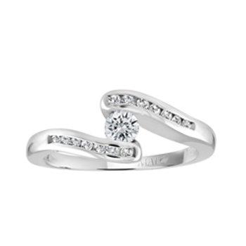 White Gold Diamond Ring .40 ct