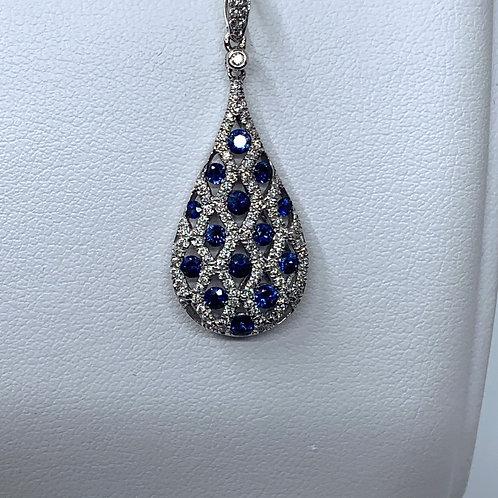Sapphire & Diamond Pendent