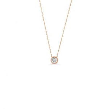 Hope Diamond Bezel Pendant with Chain