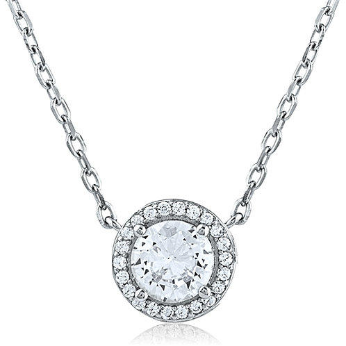 Silver Necklace With CZ - Plating: Rhodium