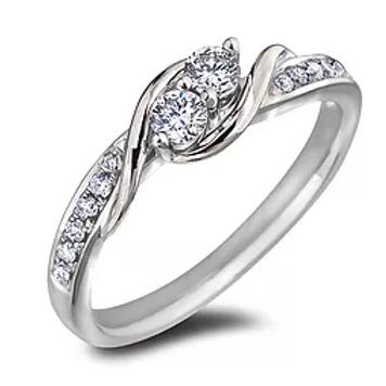 White Gold Canadian Diamond Ring