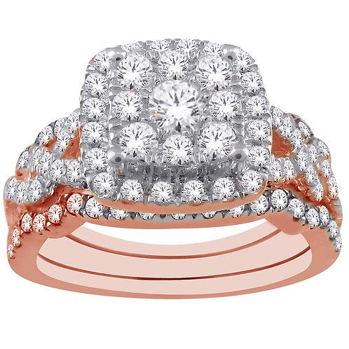 Diamond Ring & 2 Matching Bands