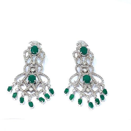 Emerald &Diamond Earring