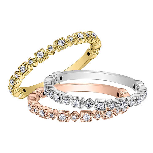 Diamond Band in Y/G