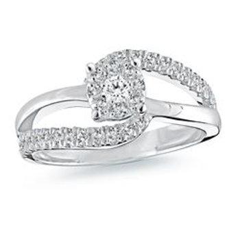Diamond Ring with Matching Band .52 ct