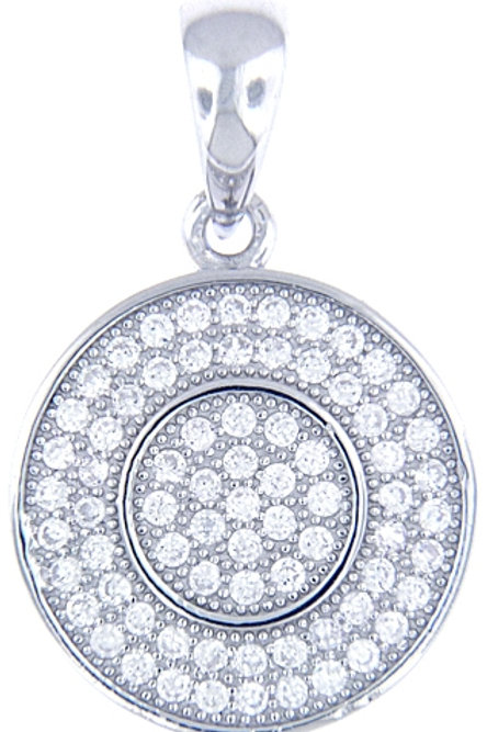 Silver Pendant with Micro Set Cubic Zirconia with Chain