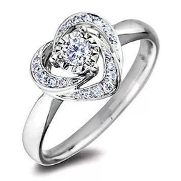 10k White Gold Diamond Ring