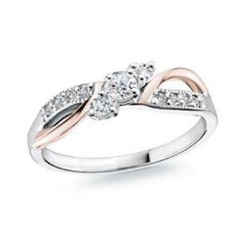 Two -Tone Diamond Ring