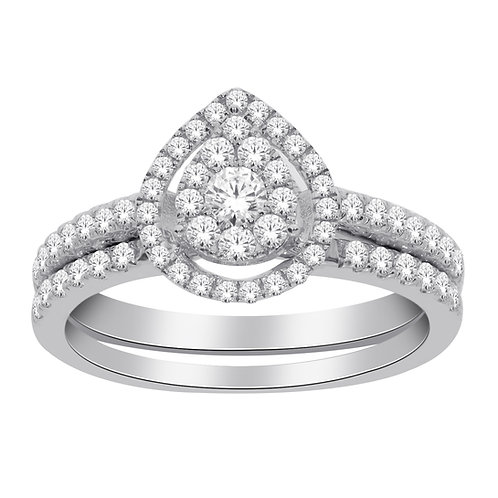 Diamond Ring with Matching Band