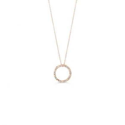 Diamond Life Circle Pendant with Chain