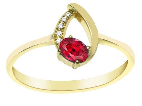 Gold Diamond & Ruby Ri