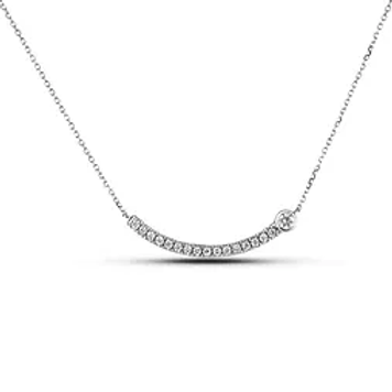 10K White Gold Pendant with Chain