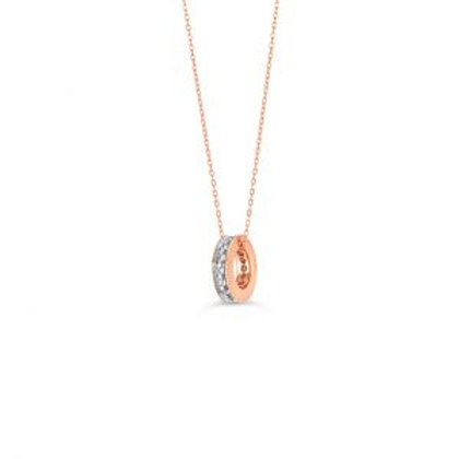 Eternity Diamond Ring Pendant with Chain