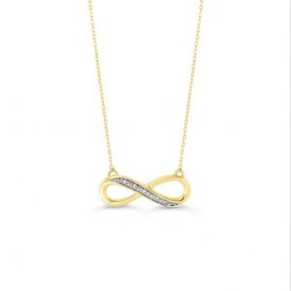 Diamond Infinity Pendant with Chain