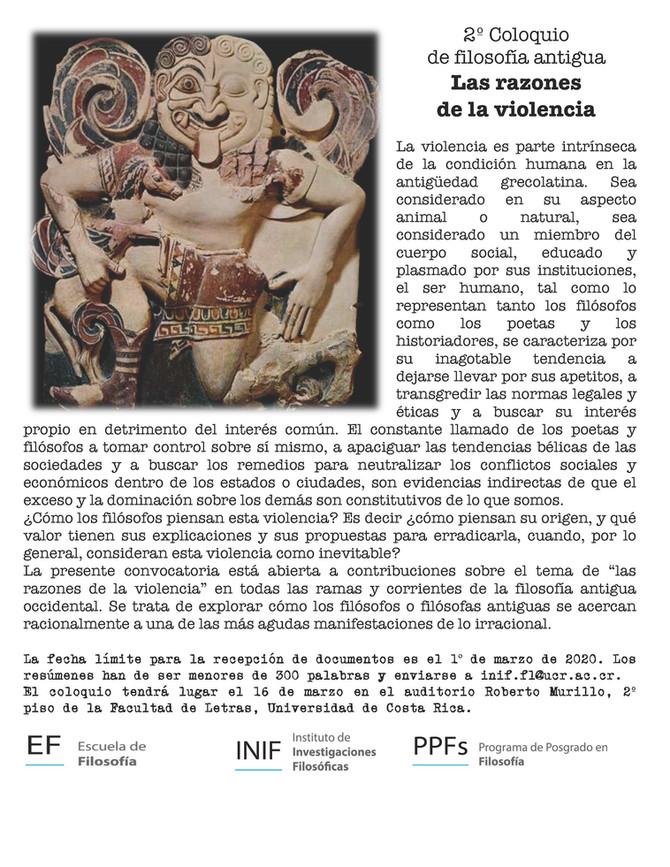 2do Coloquio de Filosofía Antigua: Las razones de la violencia