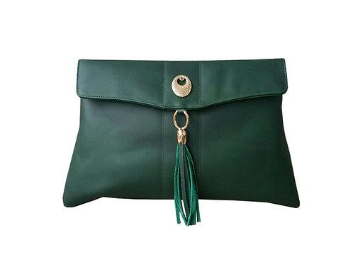 Hilda Oversize leather clutch