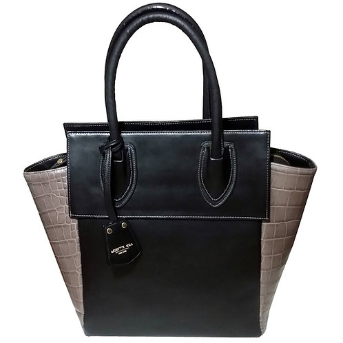 Hilda Croc embossed leather bag