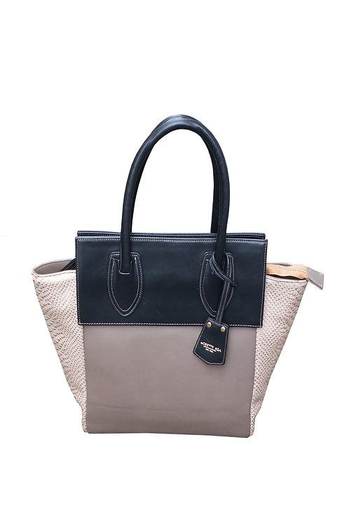 Python embossed  leather bag