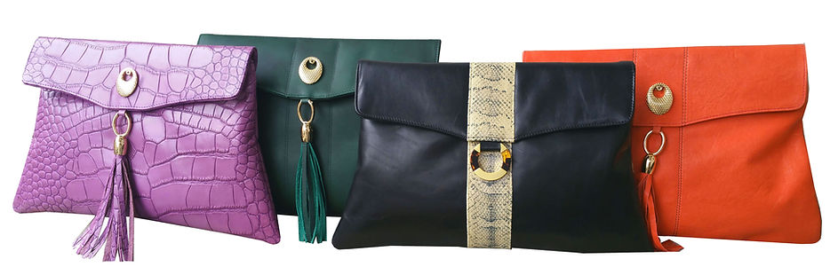 womns leather clutch bags