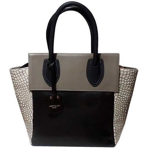 Croc leather tote bag