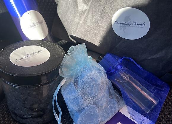 Charcoal Vanilla Exfoliating Bath Set