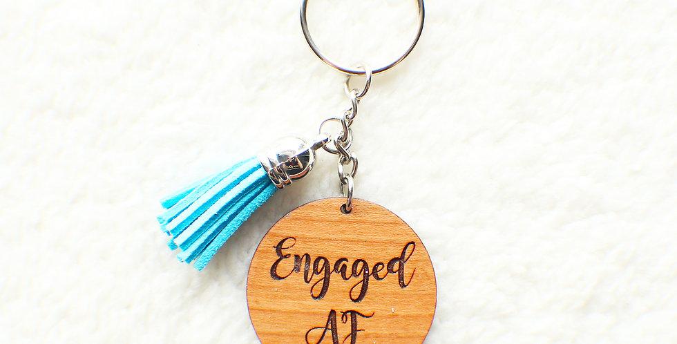 Engaged AF Keychain