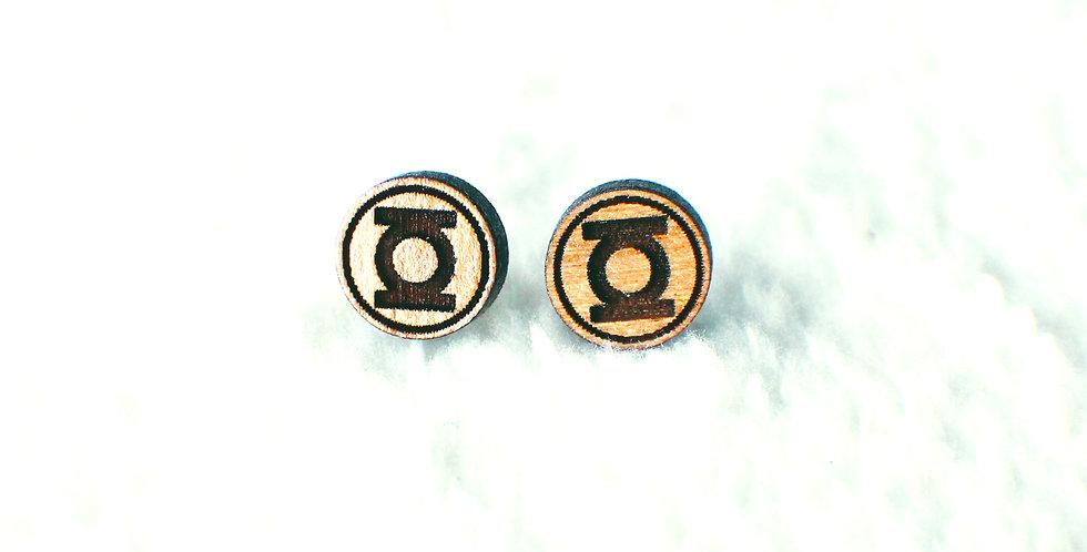 Green Lantern Stud Earrings