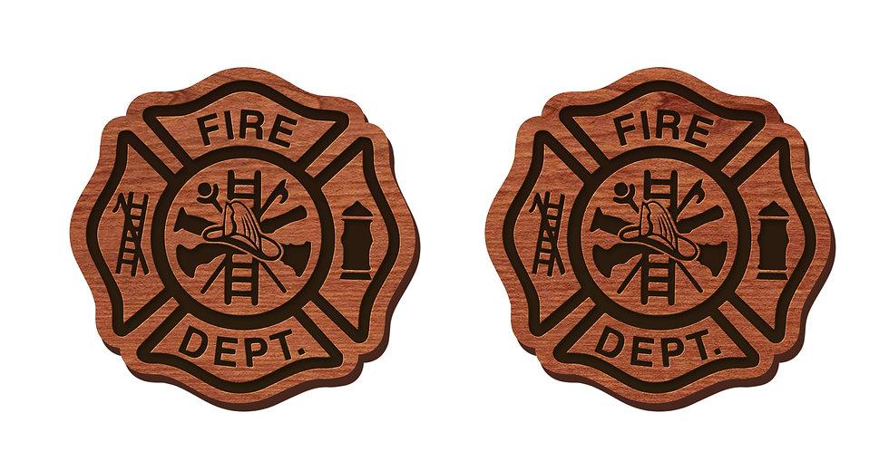 Fire Department Stud Earrings