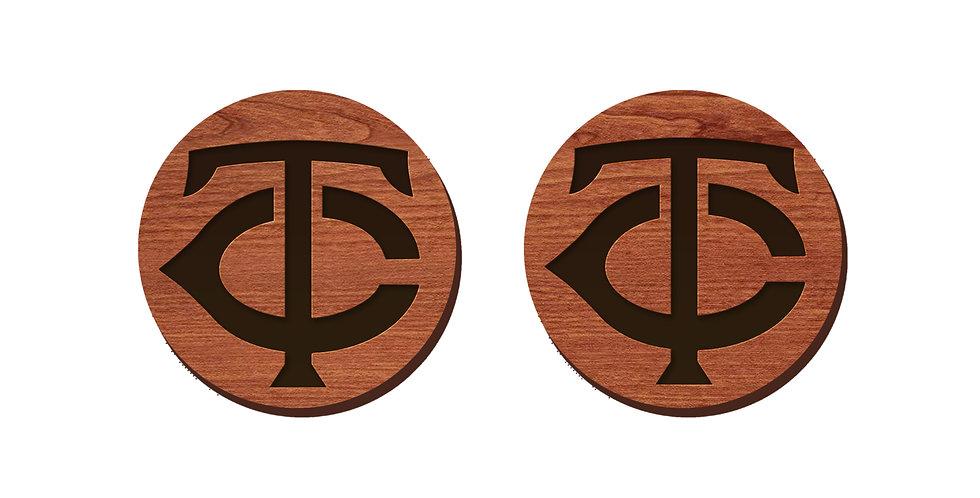 Minnesota Twins Baseball Stud Earrings