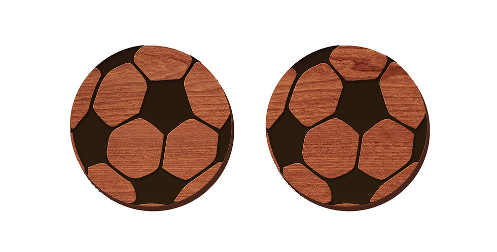 Soccer Stud Earrings