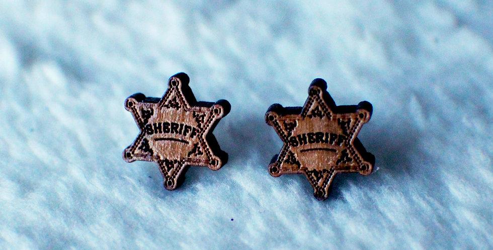 Sheriff Stud Earrings