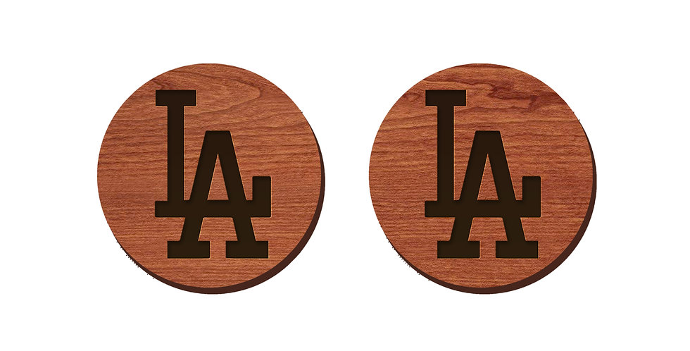 LA Dodgers Baseball Stud Earrings