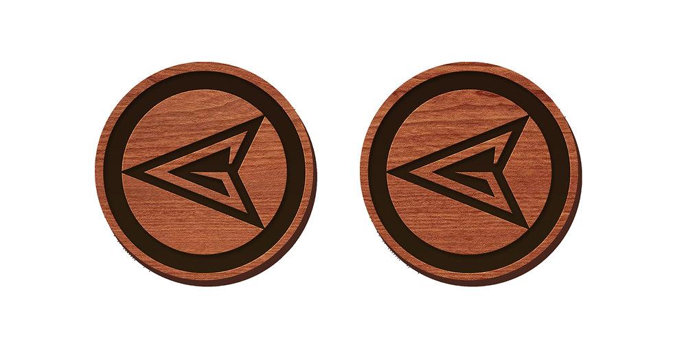 Green Arrow Stud Earrings