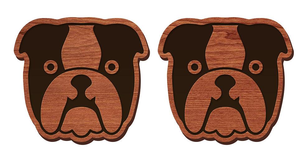 English Bulldog Stud Earrings