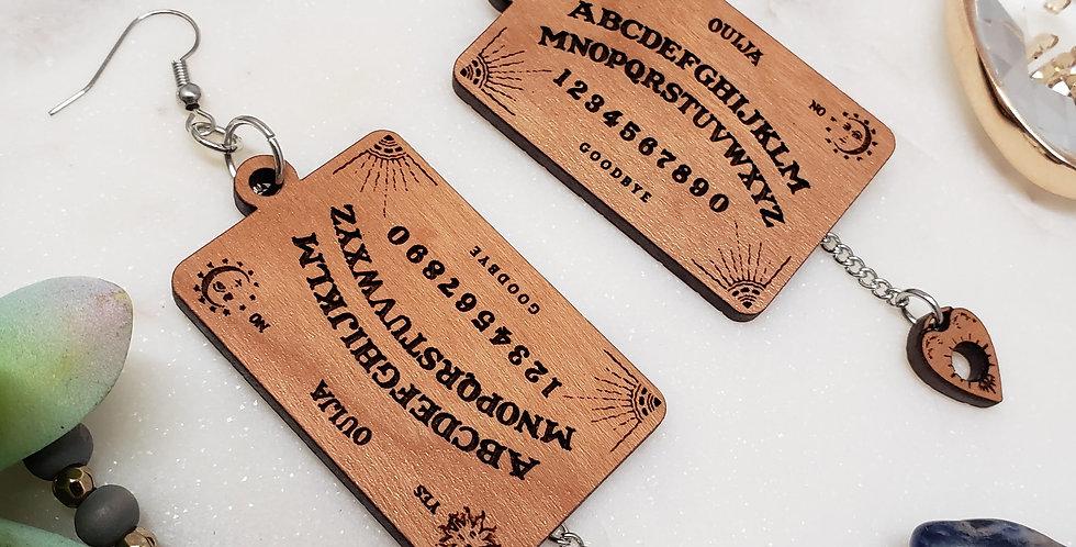 Ouija Board Earrings | Spiritual Earrings | Halloween Hanging Earrings