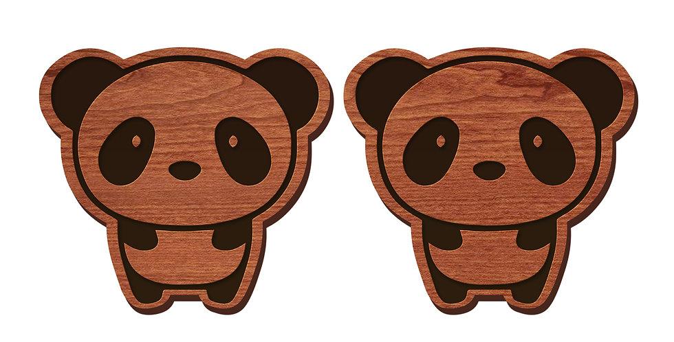 Panda Stud Earrings