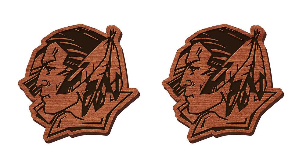 Fighting Sioux Stud Earrings